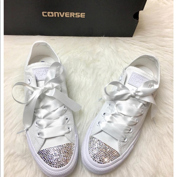 fb4bb6146e0d Swarovski Crystal CONVERSE Bling Wedding sneakers